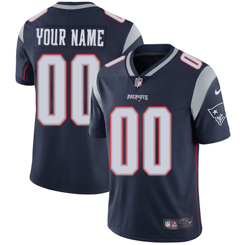 Nike New England Patriots Customized Navy Blue Team Color Stitched Vapor Untouchable Limited Youth NFL Jersey