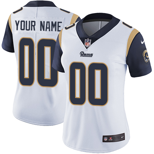 Nike Los Angeles Rams Customized White Stitched Vapor Untouchable Limited Women's NFL Jersey