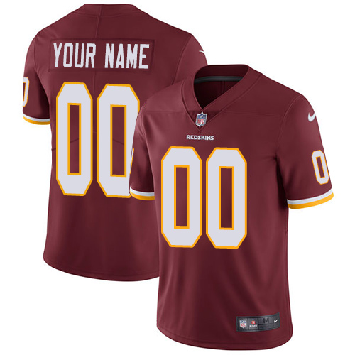 Nike Washington Redskins Customized Burgundy Red Team Color Stitched Vapor Untouchable Limited Youth NFL Jersey
