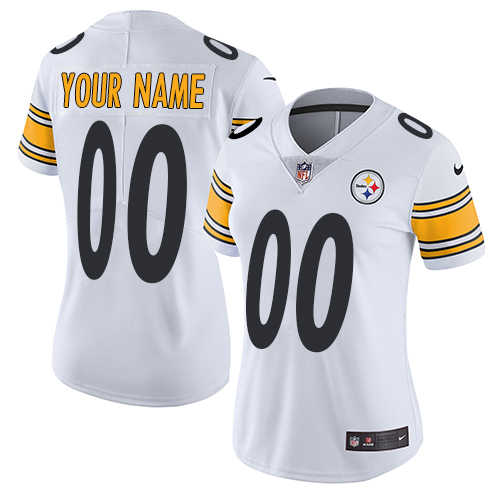 Nike Pittsburgh Steelers Customized White Stitched Vapor Untouchable Limited Women's NFL Jersey