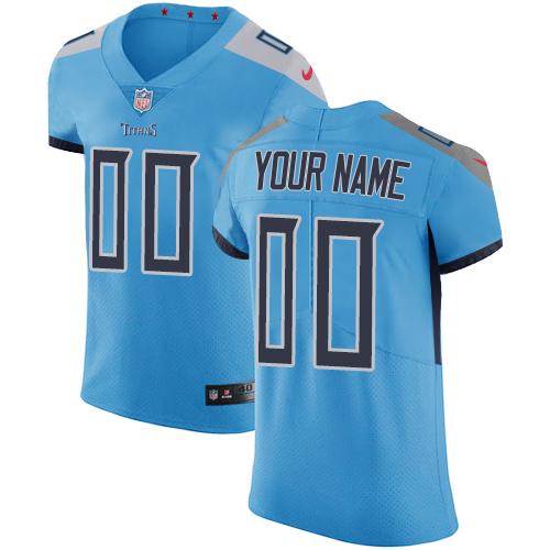 Nike Tennessee Titans Customized Light Blue Team Color Stitched Vapor Untouchable Elite Men's NFL Jersey