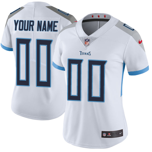 Nike Tennessee Titans Customized White Stitched Vapor Untouchable Limited Women's NFL Jersey