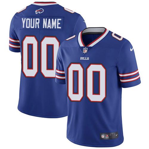 Nike Buffalo Bills Customized Royal Blue Team Color Stitched Vapor Untouchable Limited Men's NFL Jersey