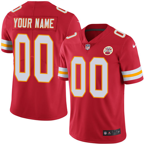 Nike Kansas City Chiefs Customized Red Team Color Stitched Vapor Untouchable Limited Men's NFL Jersey