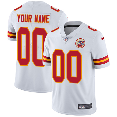 Nike Kansas City Chiefs Customized White Stitched Vapor Untouchable Limited Men's NFL Jersey