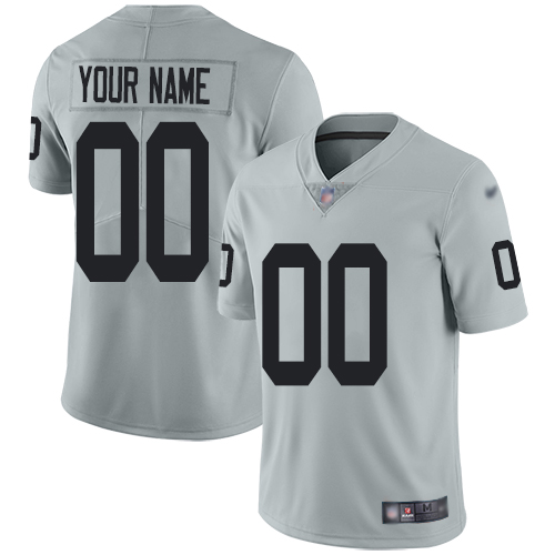 Nike Oakland Raiders Customized Silver Men's Stitched NFL Limited Inverted Legend Jersey