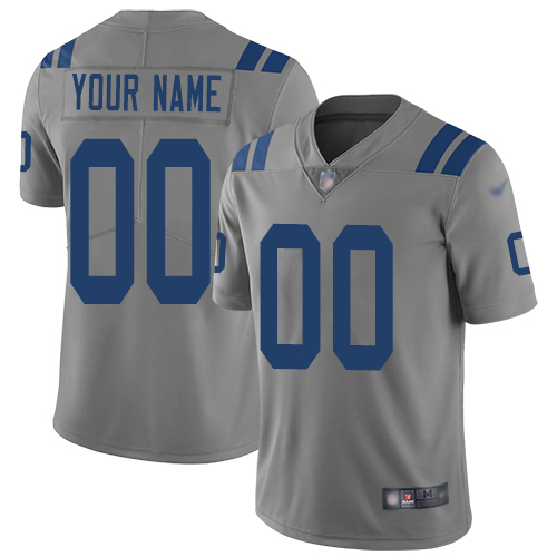 Nike Indianapolis Colts Customized Gray Men's Stitched NFL Limited Inverted Legend Jersey