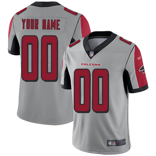 Nike Atlanta Falcons Customized Silver Men's Stitched NFL Limited Inverted Legend Jersey