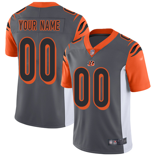Nike Cincinnati Bengals Customized Silver Men's Stitched NFL Limited Inverted Legend Jersey