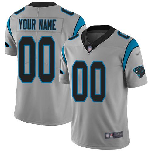 Nike Carolina Panthers Customized Silver Men's Stitched NFL Limited Inverted Legend Jersey