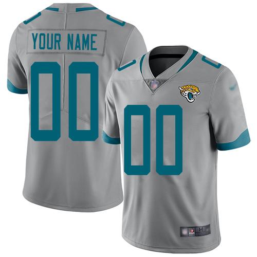 Nike Jacksonville Jaguars Customized Silver Men's Stitched NFL Limited Inverted Legend Jersey