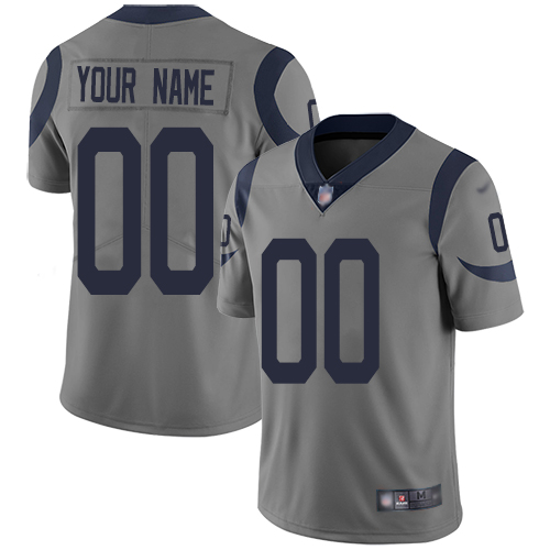Nike Los Angeles Rams Customized Gray Men's Stitched NFL Limited Inverted Legend Jersey