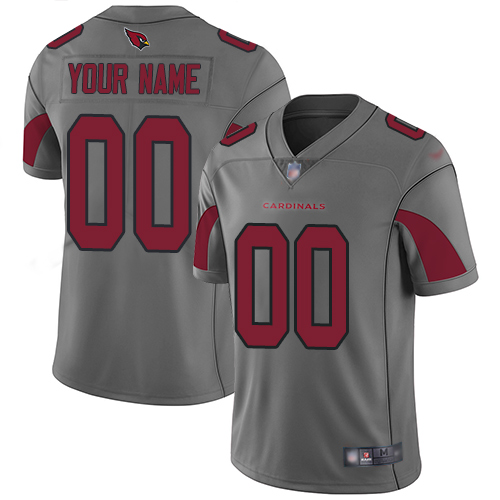 Nike Arizona Cardinals Customized Silver Men's Stitched NFL Limited Inverted Legend Jersey