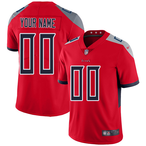 Nike Tennessee Titans Customized Red Men's Stitched NFL Limited Inverted Legend Jersey
