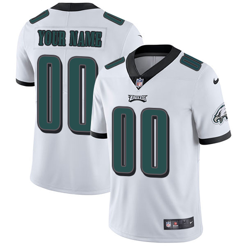 Nike Philadelphia Eagles Customized White Stitched Vapor Untouchable Limited Men's NFL Jersey