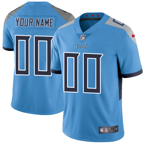 Nike Tennessee Titans Customized Light Blue Team Color Stitched Vapor Untouchable Limited Men's NFL Jersey
