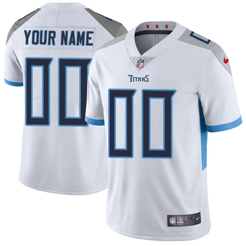 Nike Tennessee Titans Customized White Stitched Vapor Untouchable Limited Men's NFL Jersey
