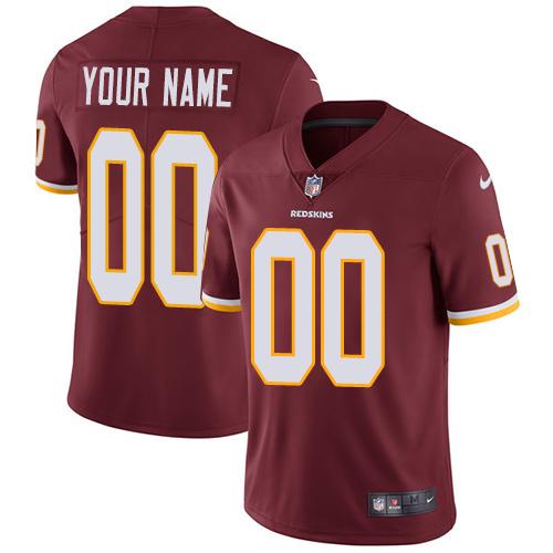 Nike Washington Redskins Customized Burgundy Red Team Color Stitched Vapor Untouchable Limited Men's NFL Jersey