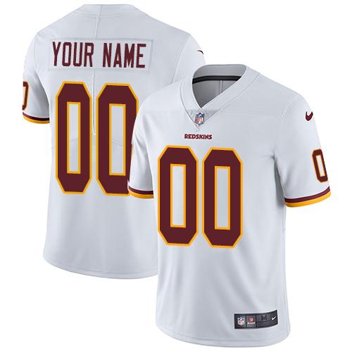 Nike Washington Redskins Customized White Stitched Vapor Untouchable Limited Men's NFL Jersey