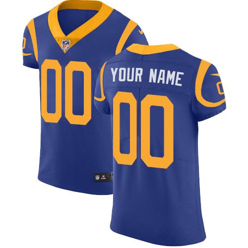 Nike Los Angeles Rams Customized Royal Blue Alternate Stitched Vapor Untouchable Elite Men's NFL Jersey