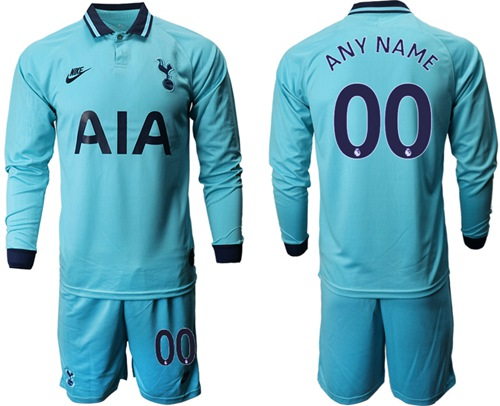 Tottenham Hotspur Personalized Third Long Sleeves Soccer Club Jersey