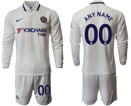 Chelsea Personalized Away Long Sleeves Soccer Club Jersey