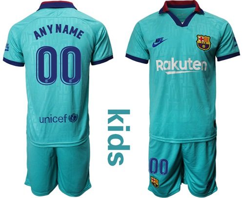 Barcelona Personalized Third Kid Soccer Club Jersey