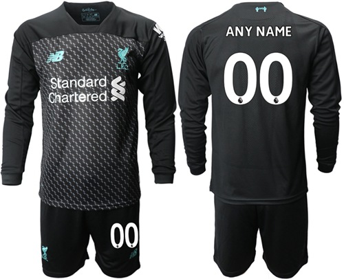 Liverpool Personalized Third Long Sleeves Soccer Club Jersey