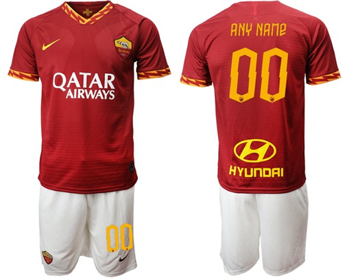 Roma Personalized Home Soccer Club Jersey