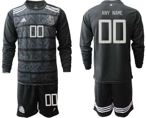 Mexico Personalized Home Long Sleeves Soccer Country Jersey
