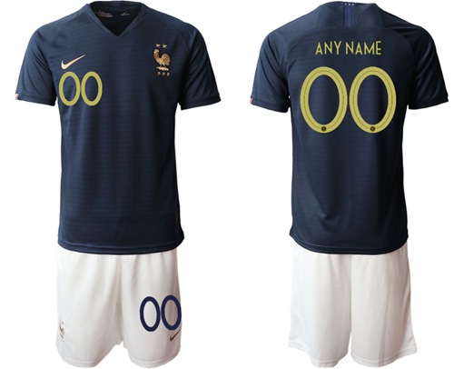 France Personalized Home Soccer Country Jersey