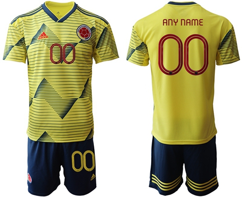 Colombia Personalized Home Soccer Country Jersey