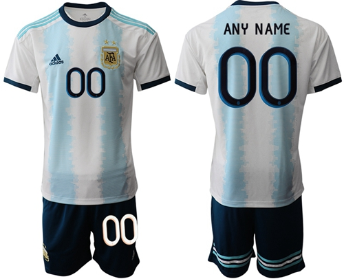 Argentina Personalized Home Soccer Country Jersey