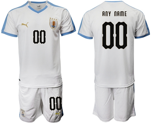 Uruguay Personalized Away Soccer Country Jersey