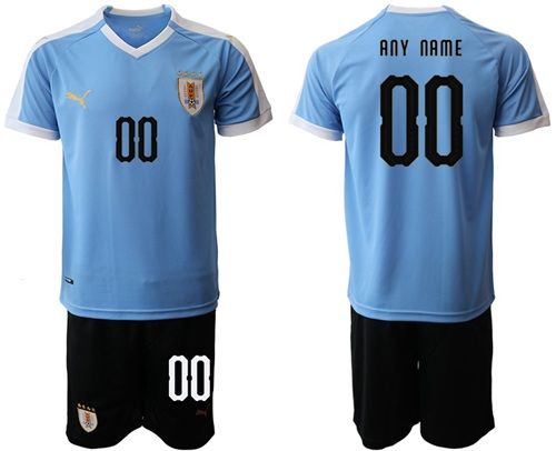 Uruguay Personalized Home Soccer Country Jersey