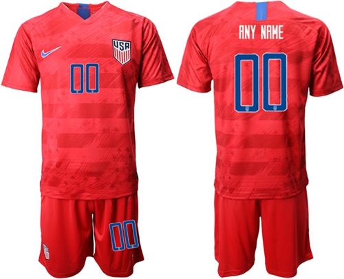 USA Personalized Away Soccer Country Jersey