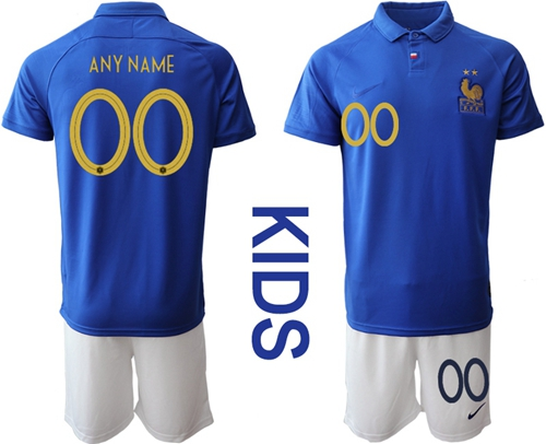 France Personalized 100th Anniversary Edition Kid Soccer Country Jersey