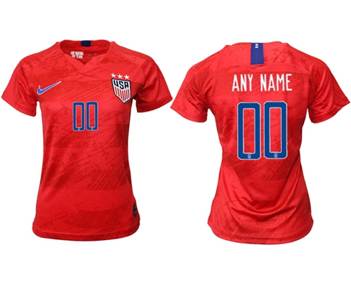Women's USA Personalized Away Soccer Country Jersey