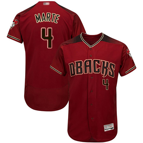 Diamondbacks #4 Ketel Marte Sedona Red Flexbase Authentic Collection Stitched MLB Jersey