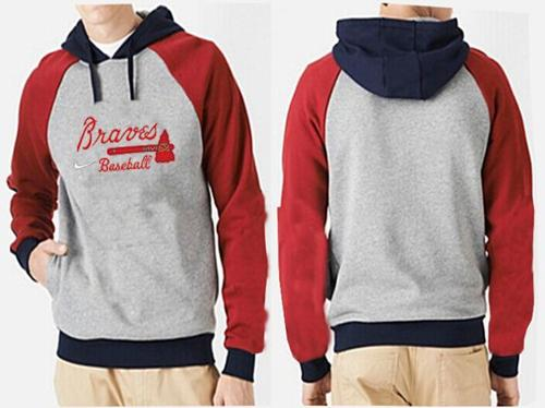 Atlanta Braves Pullover Hoodie Grey & Red