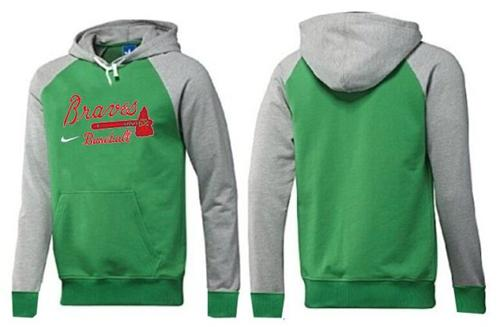 Atlanta Braves Pullover Hoodie Green & Grey