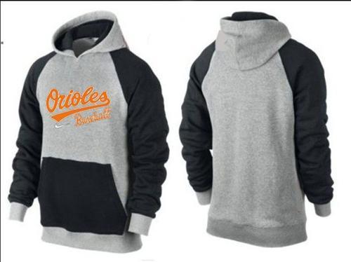 Baltimore Orioles Pullover Hoodie Grey & Black