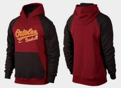 Baltimore Orioles Pullover Hoodie Burgundy Red & Black
