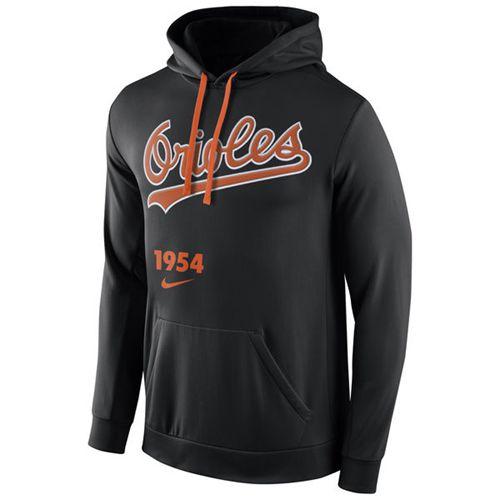Baltimore Orioles Nike Cooperstown Performance Pullover Black MLB Hoodie