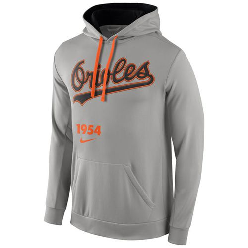 Baltimore Orioles Nike Cooperstown Performance Pullover Gray MLB Hoodie