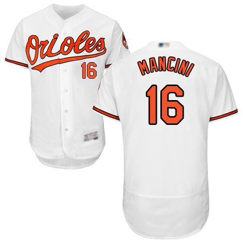 Orioles #16 Trey Mancini White Flexbase Authentic Collection Stitched MLB Jersey