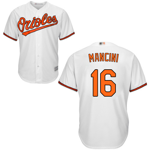 Orioles #16 Trey Mancini White New Cool Base Stitched MLB Jersey