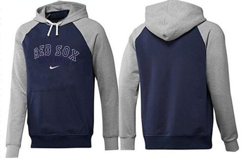 Boston Red Sox Pullover Hoodie Dark Blue & Grey