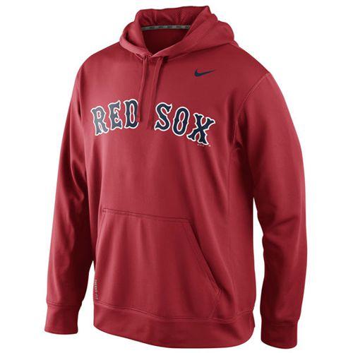 Boston Red Sox Nike Men's KO Wordmark Perfomance Red MLB Hoodie