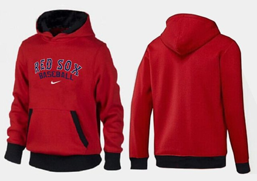 Boston Red Sox Pullover Hoodie Red & Black